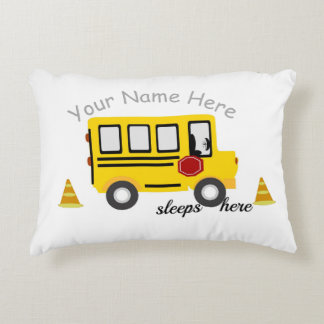 School Bus personalized pillow