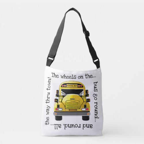 School Bus Personalized Tote