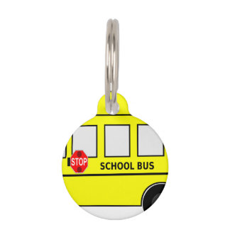 School Bus Pet ID Tag