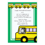 School Bus/ photo Invites