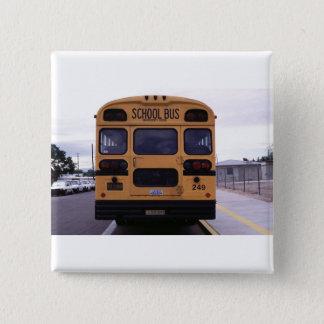 School Bus Picture Pinback Button