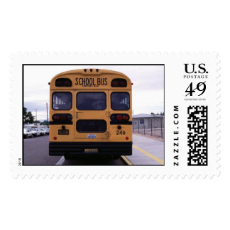 School Bus Picture Postage