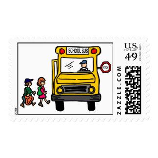 School Bus Postage