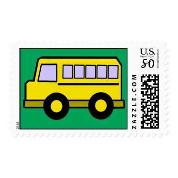 Toddler & Baby themed School Bus Postage