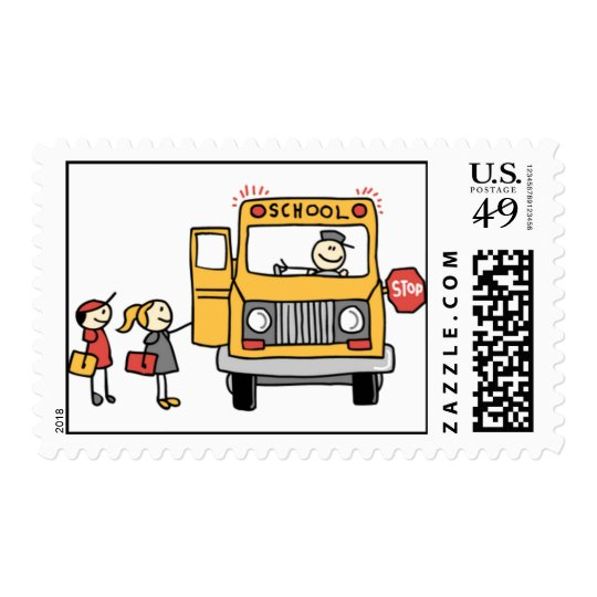 School Bus Postage Stamps