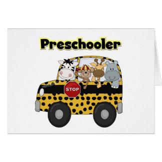 School Bus Preschooler Tshirts and Gifts Greeting Card