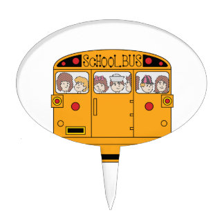 School Bus Rear Cake Topper