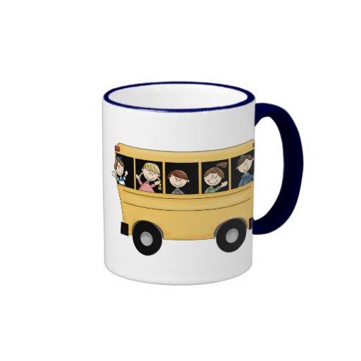 School Bus Ringer Mug