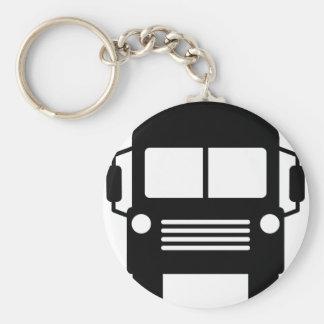 school bus sign basic round button keychain