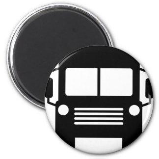 school bus sign magnet