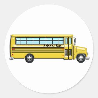 School Bus Round Sticker