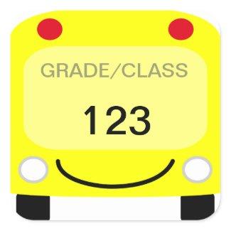 School Bus Tag Sticker