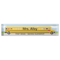 School Bus | Teacher Name Plate