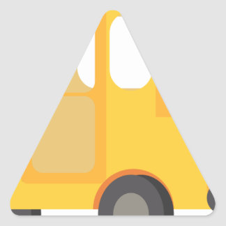 School Bus Triangle Sticker