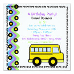 School Bus Wheels Custom Invite