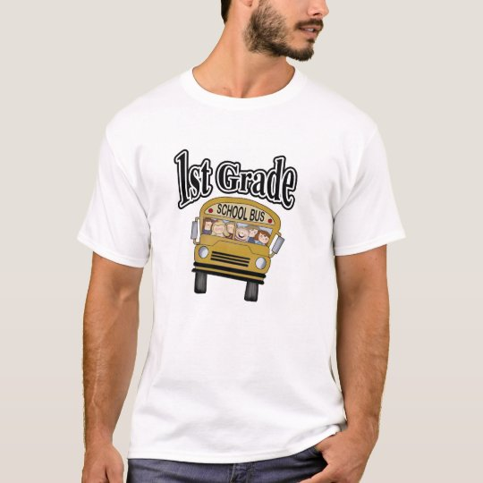 School Bus with Kids 1st Grade T-Shirt