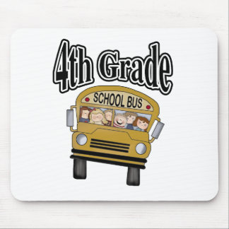 School Bus with Kids 4th Grade Mouse Pad