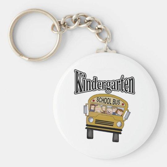School Bus with Kids Kindergarten Keychain