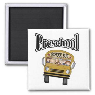 School Bus with Kids Preschool Magnet