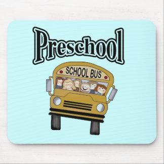 School Bus with Kids Preschool Mousepad
