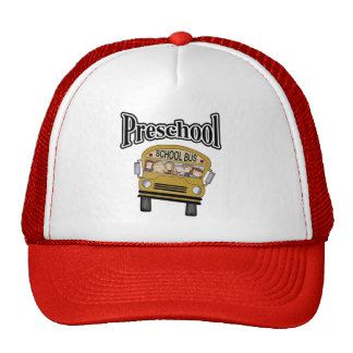 School Bus with Kids Preschool Tshirts and Gifts Hat