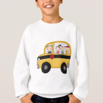 School Bus with Kids T-shirts and Gifts
