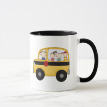 School Bus with Kids T-shirts and Gifts Mug