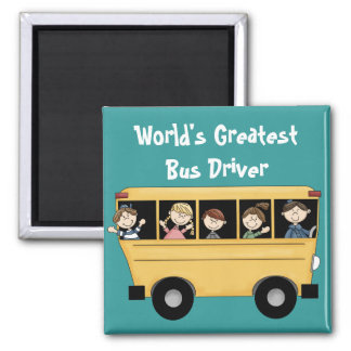 School Bus ~ World's Greatest Bus Driver 2 Magnet