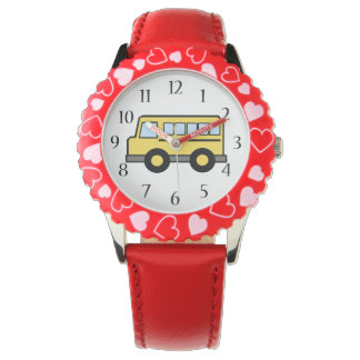 School Bus Wristwatch
