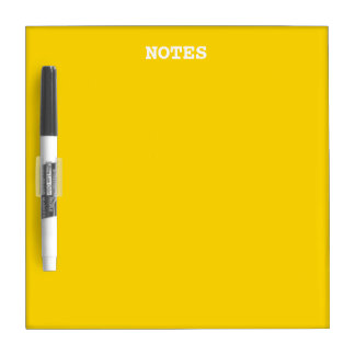 School Bus Yellow Solid Color Dry-Erase Board