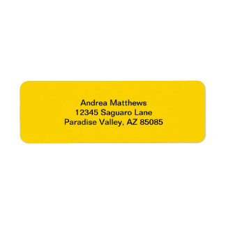 School Bus Yellow Solid Color Label