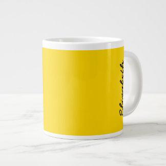 School Bus Yellow Solid Color Large Coffee Mug