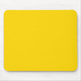School Bus Yellow Solid Color Mouse Pad