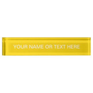 School Bus Yellow Solid Color Name Plate