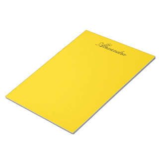 School Bus Yellow Solid Color Notepad