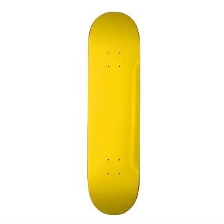 School Bus Yellow Solid Color Skateboard Deck