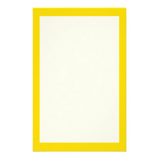 School Bus Yellow Solid Color Stationery