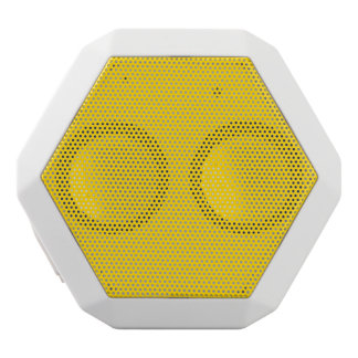 School Bus Yellow Solid Color White Bluetooth Speaker