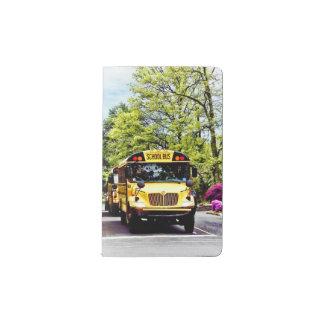 School Buses At Stop Sign In Spring Pocket Moleskine Notebook