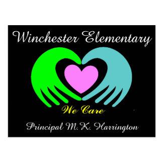 School / Business Hands and Heart Postcard - SRF