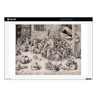 """School by Pieter Bruegel the Elder Decal For 17"""" Laptop"""