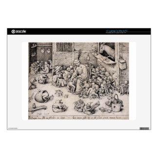 """School by Pieter Bruegel the Elder Decals For 15"""" Laptops"""
