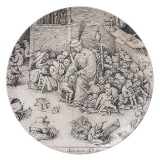 School by Pieter Bruegel the Elder Melamine Plate