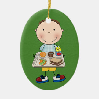 School Cafeteria- SRF Christmas Ornament