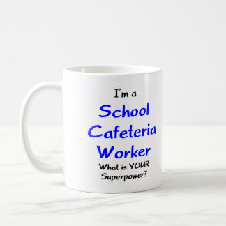 School cafeteria worker classic white coffee mug
