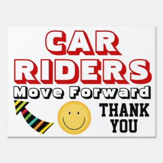 School Car Riders Sign - SRF