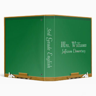 School Chalkboard Vinyl Binder