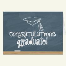 School Chalkboard Congratulations Graduate