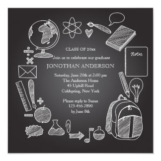 School Chalkboard Invitation