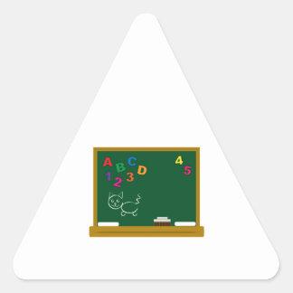 School Chalkboard Triangle Stickers